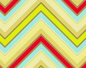 Heather Bailey - Pop Garden - Zap Stripe -Red  -  by the Half Yard