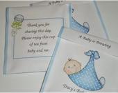 30 Baby Shower Tea Bag Favors in Pink or Blue