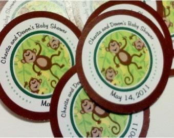 20 Dancing Monkey Hang Tags