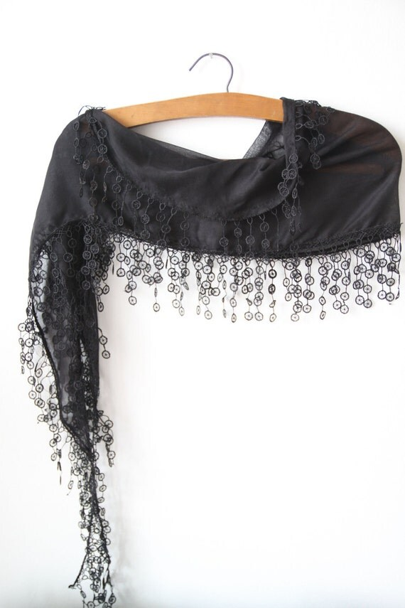 Clearance...Cotton Lace Scarf