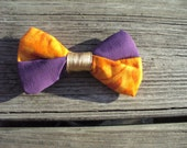 Quilted Clip on Bow Tie