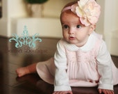 Pink Flower Headband, Baby headband, Girl headband, All sizes available ... The Sweet Pea