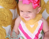 Choose Three Headbands, Pink Bow Headband, Black Bow Headband, Orange Bow Headband...Many Colors and Sizes available