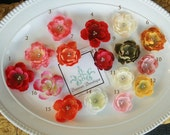 Snap Flower Clip, Pink flower clip, choose three colors