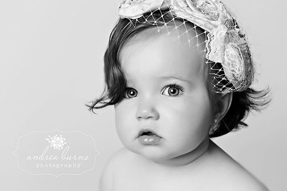 THE AUDREY Vintage Raw Silk Handmade Triple Rosette Headband with Swarvoski Crystal Accents and French Tulle Baby Infant Toddler Girl Adult  MANY COLORS AVAILABLE