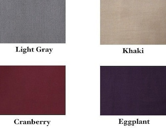 3 Headbands - 3/4 inch - Choose black, chocolate, gray, khaki, cranberry, eggplant, mustard or navy