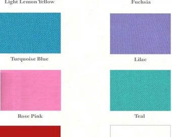 3 Headbands - 3/4 inch - Choose yellow, fuchsia, turquoise, lilac, rose, teal, red or white