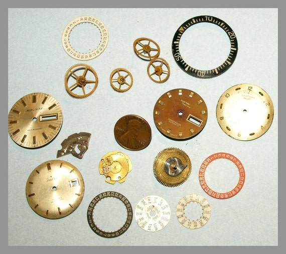 Nice lot of Steampunk watch parts   ET101