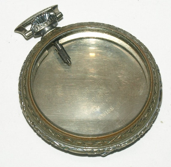 Nice old Pocket watch case for Steampunk Art and Jewelry K1235