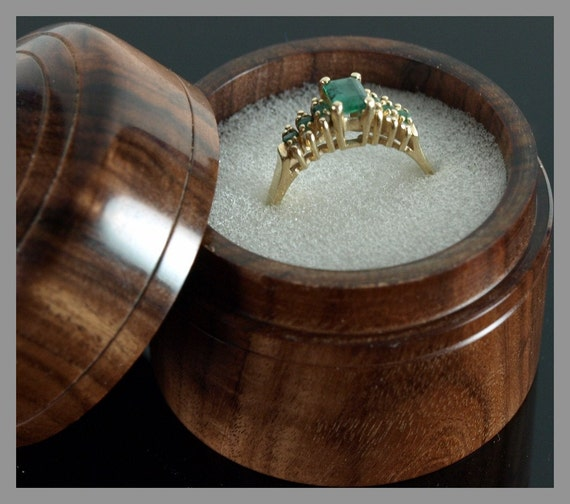 Engagement Ring Box Sale: SALE... SALE.... Hand Turned Engagement Ring Box In Bolivian