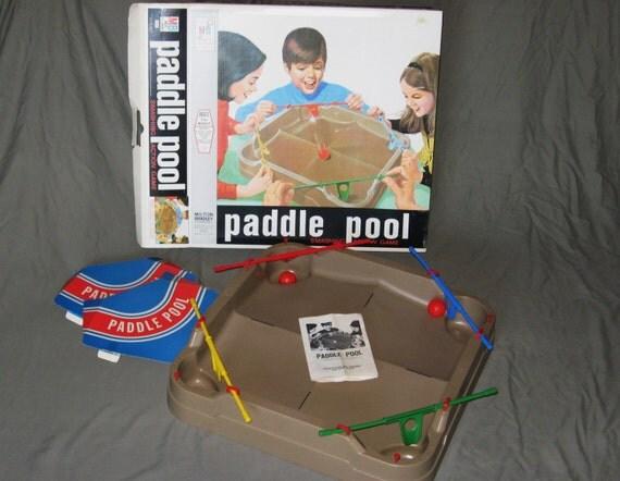 1970 Milton Bradley PADDLE POOL Game - Complete