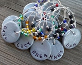 RESERVED Listing for CATHSNOW- Personalized Wine Charms