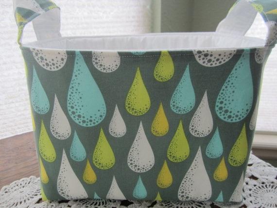 Reversible Organizer Fabric Fabulous Blooming Bin Basket Storage