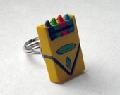 Adorable Crayon Ring - Adjustable