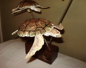 Loggerhead Sea Turtle Sculpture OOAK