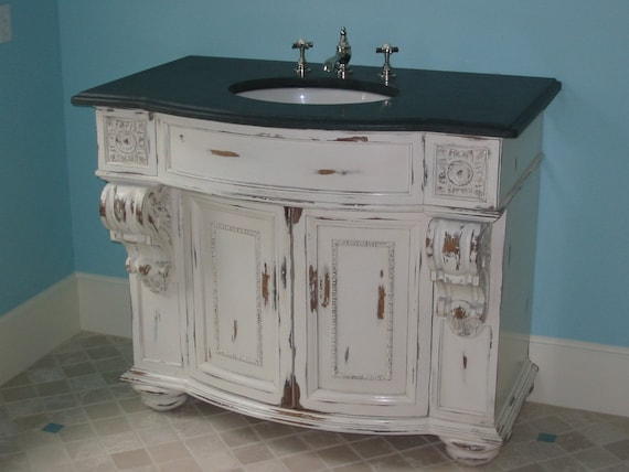 Items Similar To Shabby Chic Bow Front Vanity On Etsy