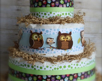 Whooo's That Baby Boy Cake