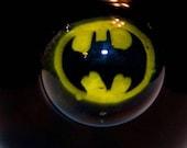 Hand Blown Glass BAT MAN Solid Black Jar Pyrex for Pipe Tobacco