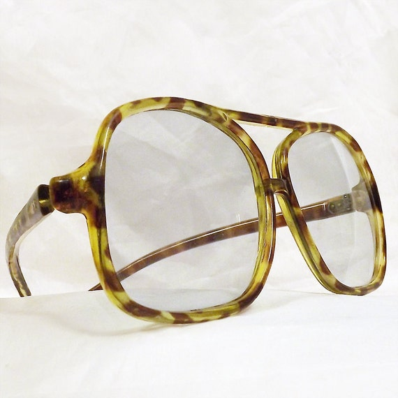 Huge Vintage Glasses Geek Chic Tortoiseshell Aviator