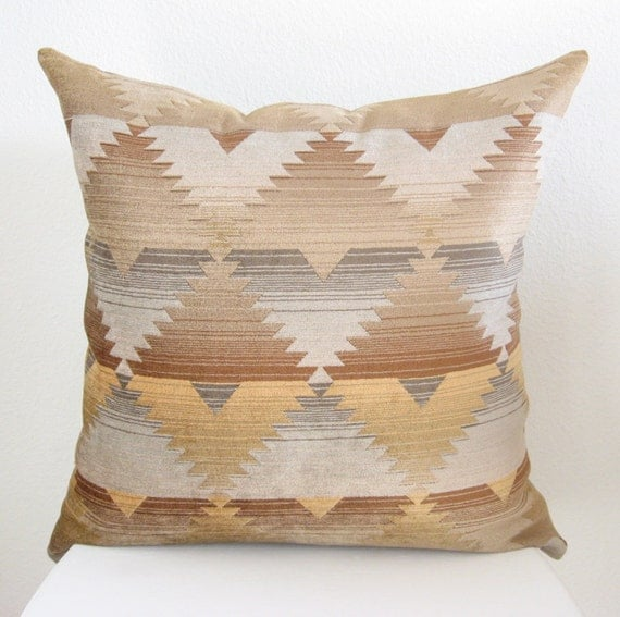 Decorative pillow - Throw pillow - Accent pillow - pillow cover - 20 x 20 - Southwestern - geometric  - desert colors