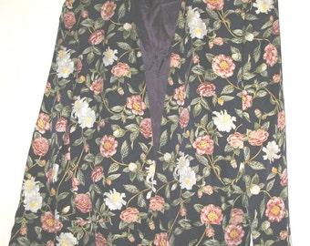 Pristine Silk Floral Jacket - 1980's   - L