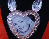 Jayne Mansfield resin necklace by Whiskey Darling - FREE US SHIPPING