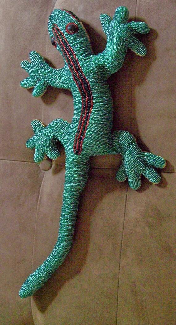 Large Beaded  Lizard, 3D  ooak