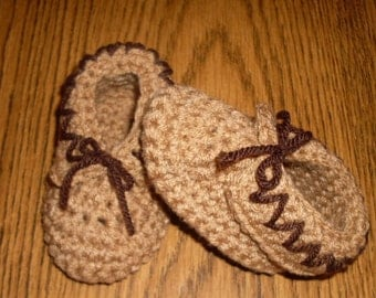 Baby Moccasins, Crochet Boy Shoes, Girl Shoes, Baby Booties, Slippers, Newborn to 12 months