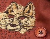 Hand embroidered Mr Fox scarf
