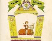 Children's Book Picture, Curly Locks, 2 Prints 1929, Rhymes, Pogany Illustration, Swine, Cushion, Sugar, Strawberries, Cream
