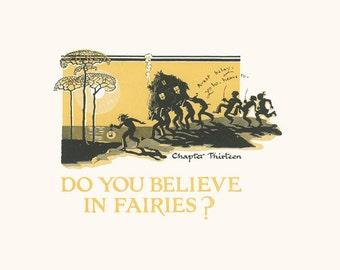 Do You Believe in Fairies, Peter Pan Art Print 1931-  J. M. Barrie, Gwynedd Hudson, Illustrated Chapter 13, J M Barrie, Children's Art