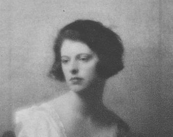 The Honourable Lois Sturt, Flapper, Art Deco, Vintage Monochrome Portrait in Photogravure by Hugh Cecil, 1926, Book of Beauty