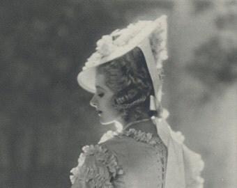 Miss Isabel Jeans, Art Deco, Vintage Monochrome Portrait in Photogravure by Hugh Cecil, 1926, Book of Beauty