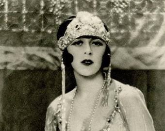 Sale 20% off Miss Dina Harris, Flapper, Art Deco, Vintage Monochrome Portrait in Photogravure by Hugh Cecil, 1926, Book of Beauty