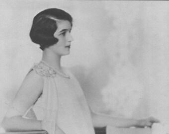 Miss Marcella Duggan , Art Deco, Vintage Monochrome Portrait in Photogravure by Hugh Cecil, 1926, Book of Beauty