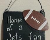 Jets fan football ornament