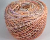 Seashells Handspun - 3 oz (181 yards) ( merino / bamboo / tussah silk/ firestar / angelina