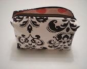 La Fleur Box Style Zippered Cosmetic Bag