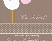 Baby Shower Invitation -  Digital Graphics File  (STK1)