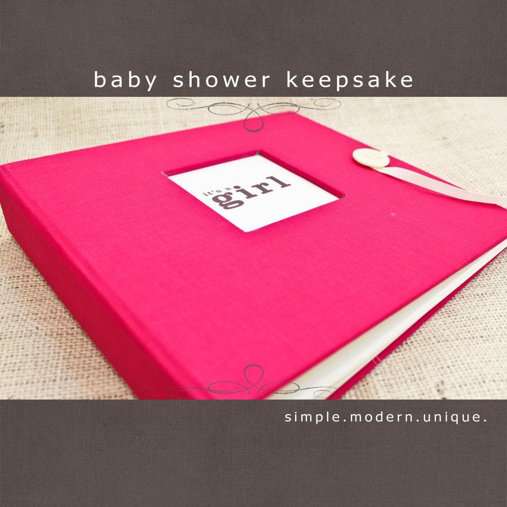 baby shower keepsake album hot pink