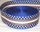 Blue, gold, black, and white inkle trim (hand woven - over 14 feet)