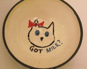 Whimsical Cat dish, purrrfect for a Cat with an attitude