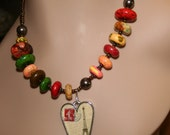 Necklace with colorful turquoise