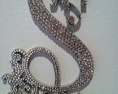 "6"" Stunning Custom Crystal Monogram Cake Topper with Scroll Work - Letter S"