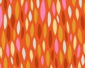 Too Muchery Leaves in Orange by Helen Dardik - Fat Quarter