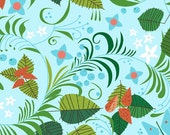 Leaves and Berries on Light Blue from Hello Pilgrim by Lizzy House - Fat Quarter