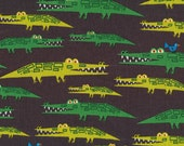 Alligators from Happy Drawing - Cloud9 Organic fabrics  - One Yard