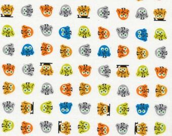 Owls from Happy Drawing - Cloud9 Organic fabrics  - One Yard