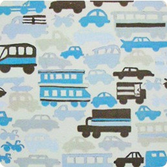 Rush Hour in Baby Blue by Alexander Henry Fabrics- SPECIAL PRICE on Half Yards