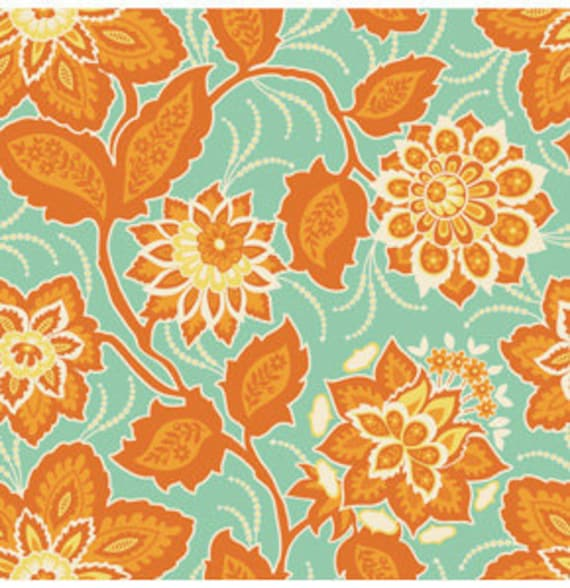 Ornate Floral in Amber  from Heirloom by Joel Dewberry- Fat Quarter